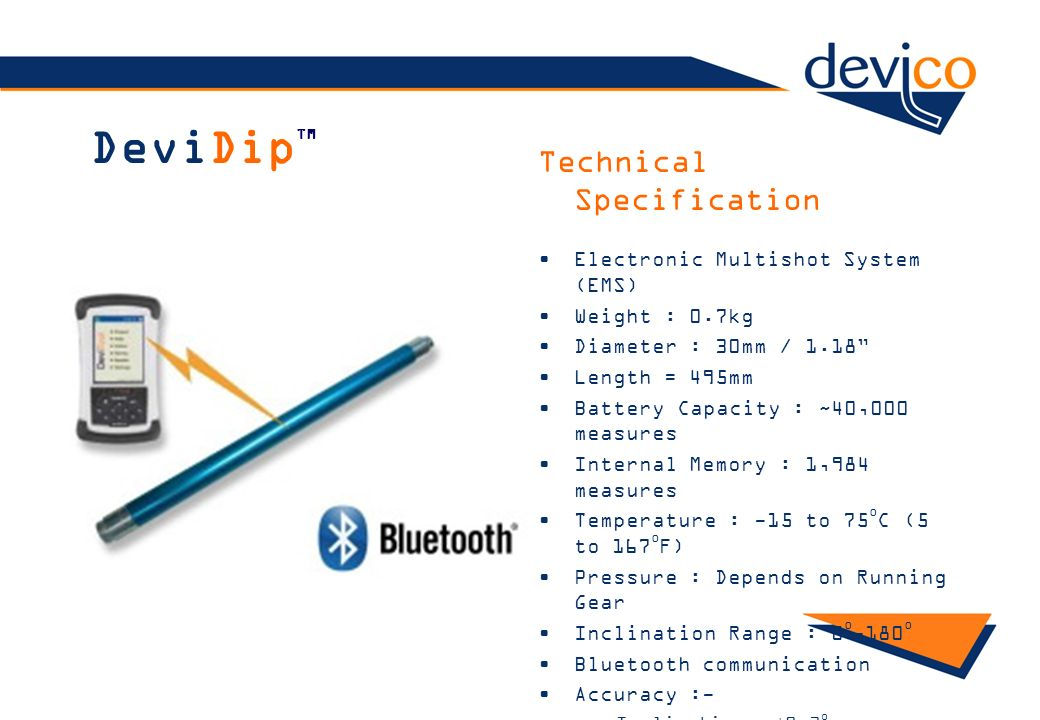 DeviDipTM Technical Specification Electronic Multishot System (EMS)