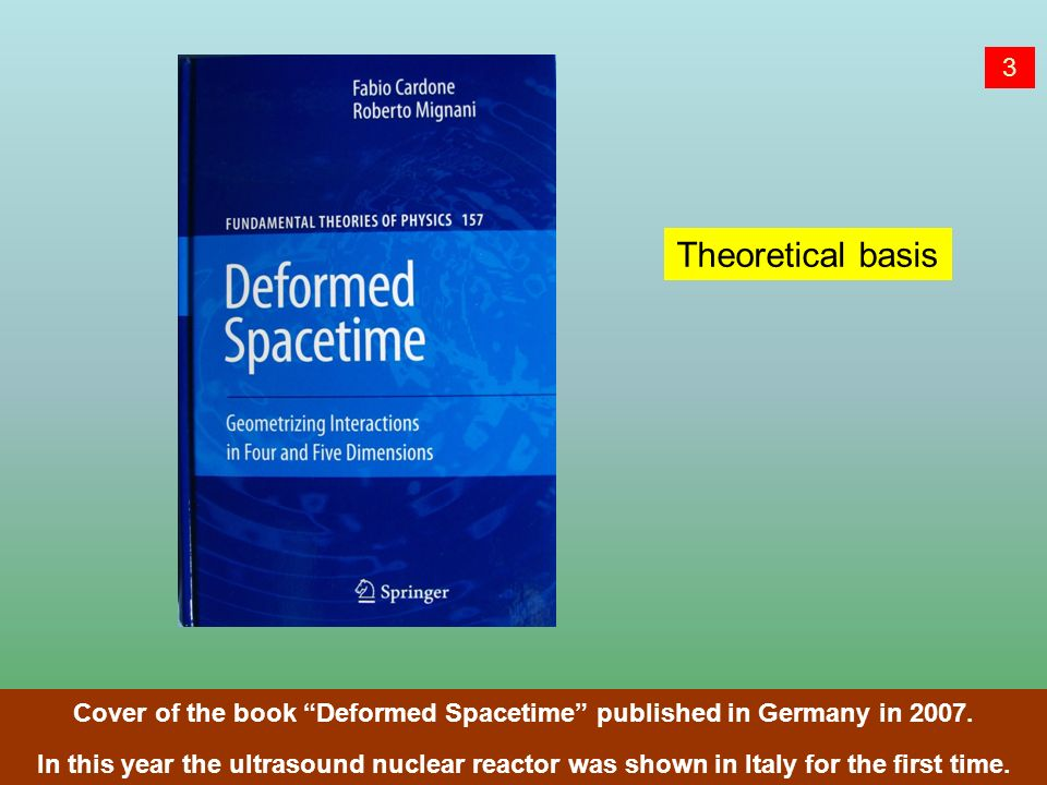 Cover of the book Deformed Spacetime published in Germany in 2007.