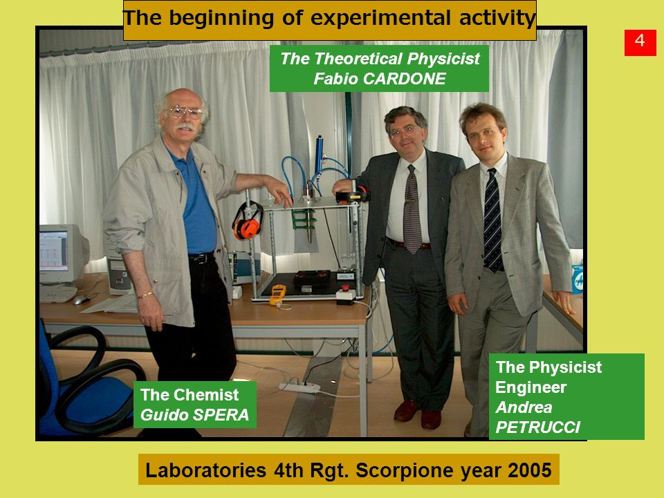 The beginning of experimental activity The Theoretical Physicist