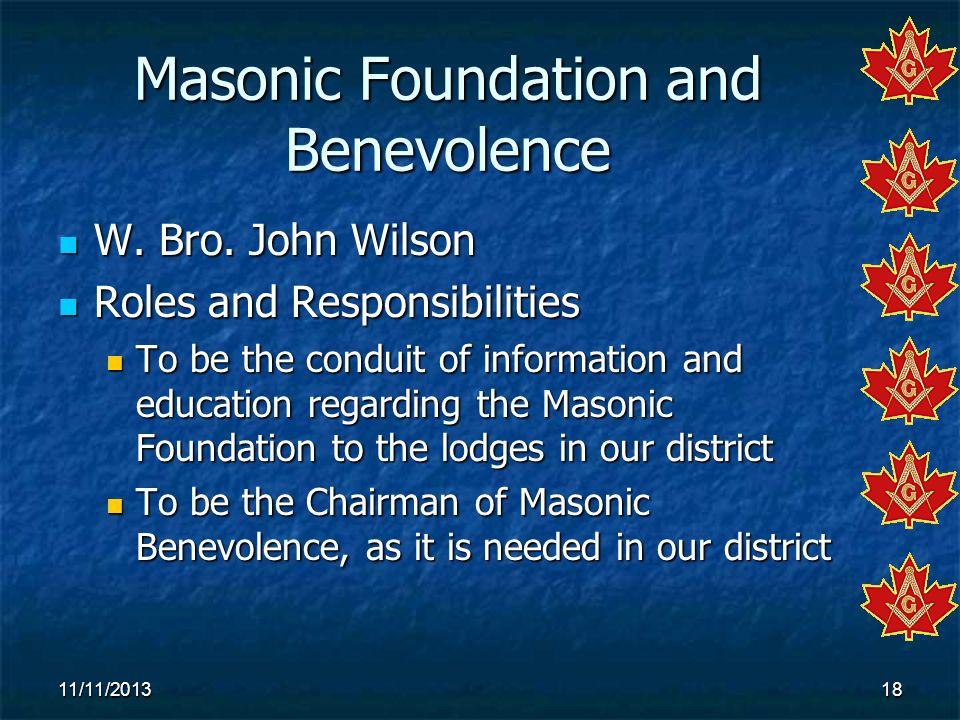 Masonic Foundation and Benevolence