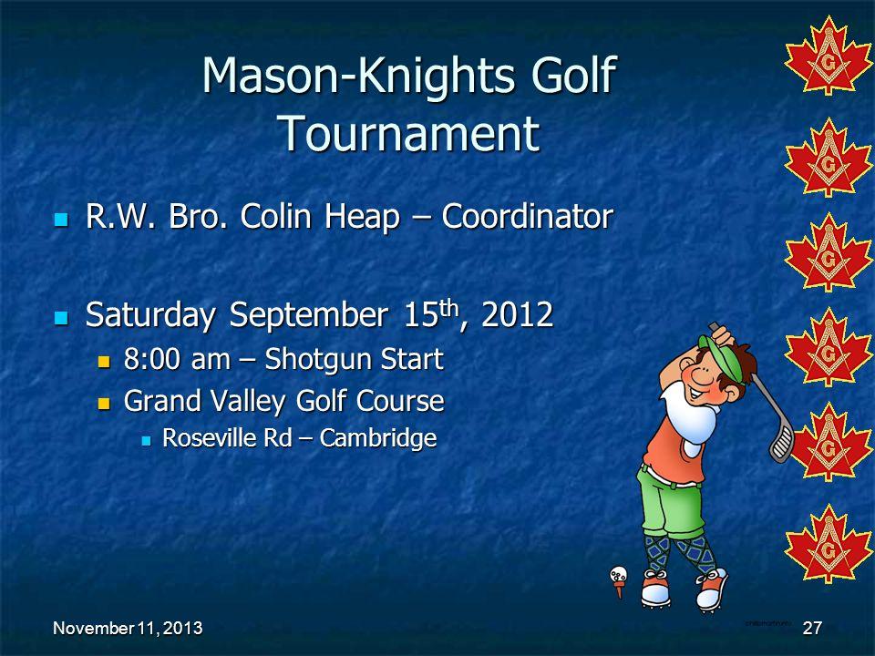 Mason-Knights Golf Tournament