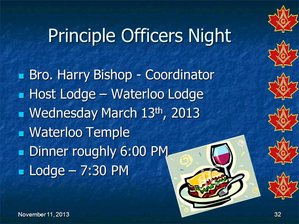 Principle Officers Night