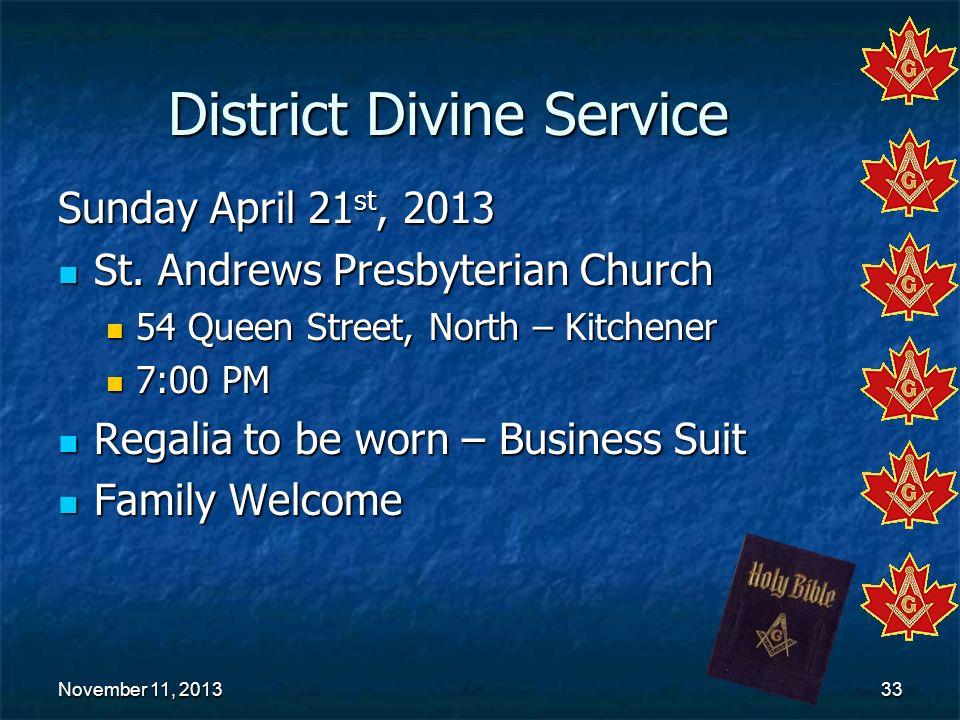 District Divine Service