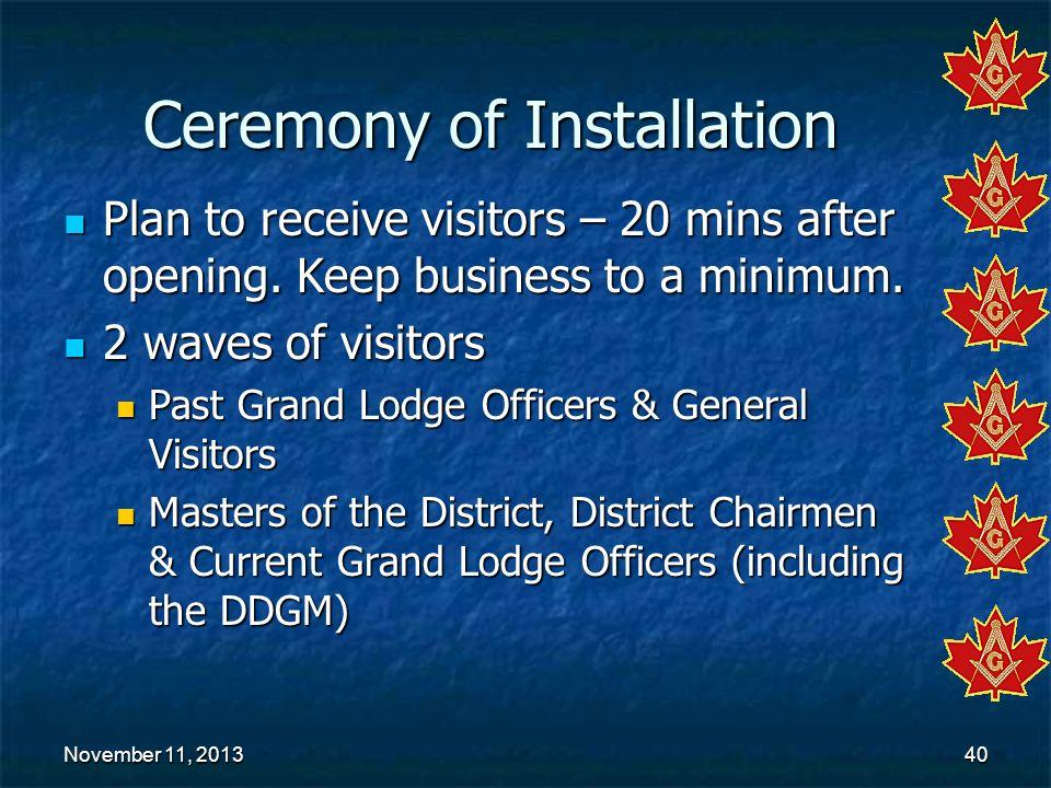 Ceremony of Installation