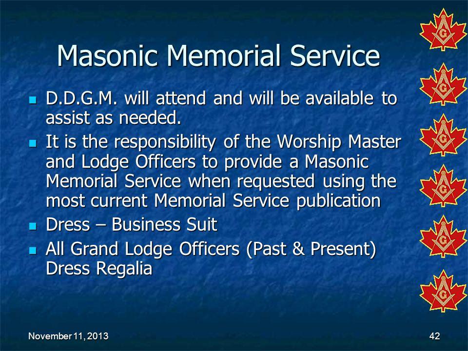 Masonic Memorial Service