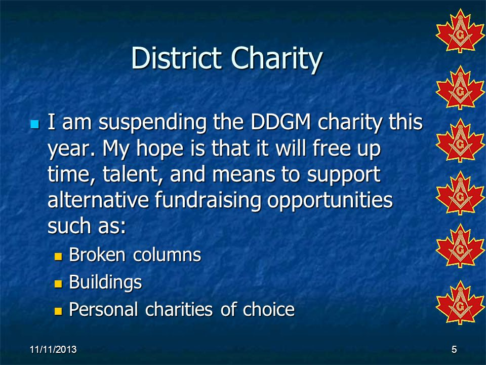 District Charity