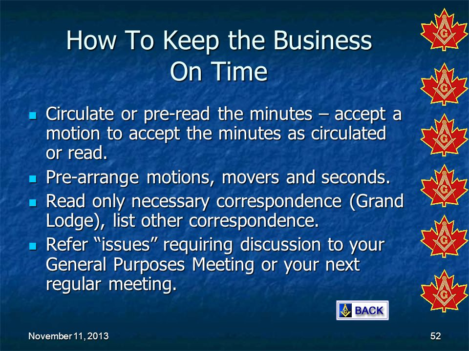 How To Keep the Business On Time
