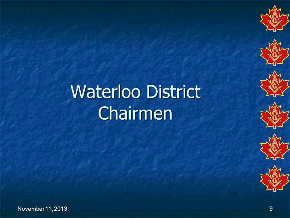 Waterloo District Chairmen