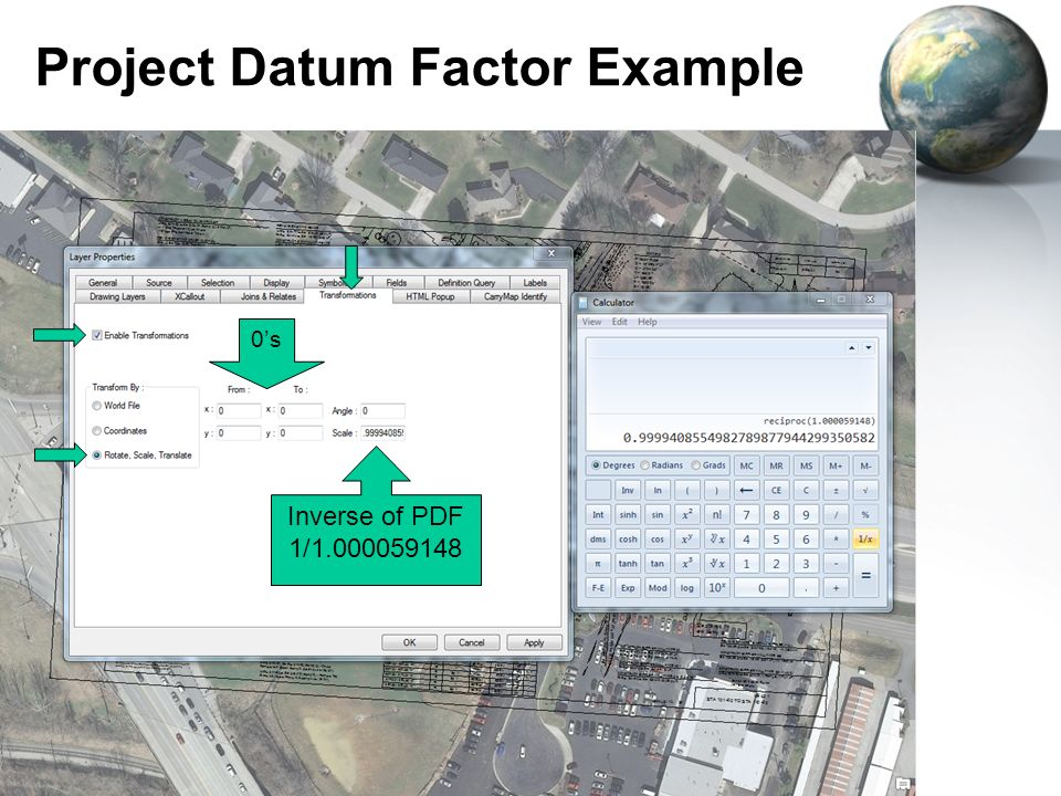 Project Datum Factor Example