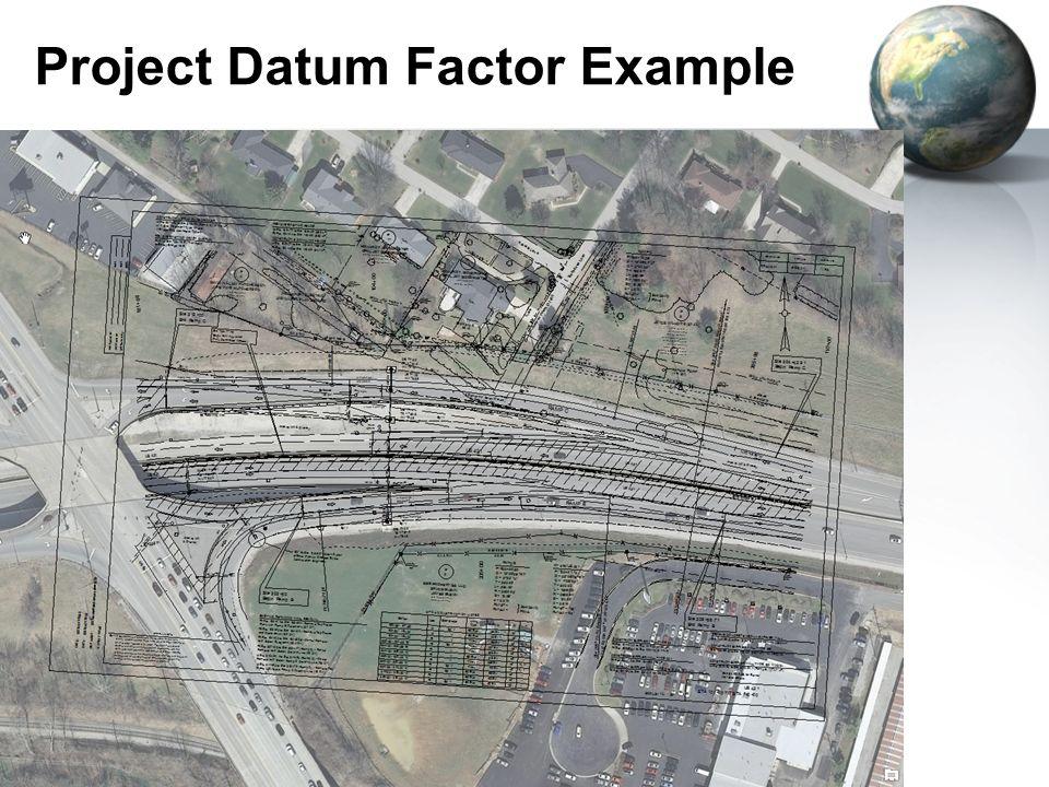 Project Datum Factor Example