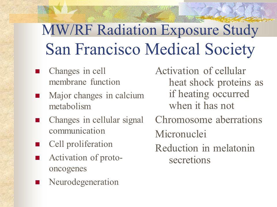 MW/RF Radiation Exposure Study San Francisco Medical Society