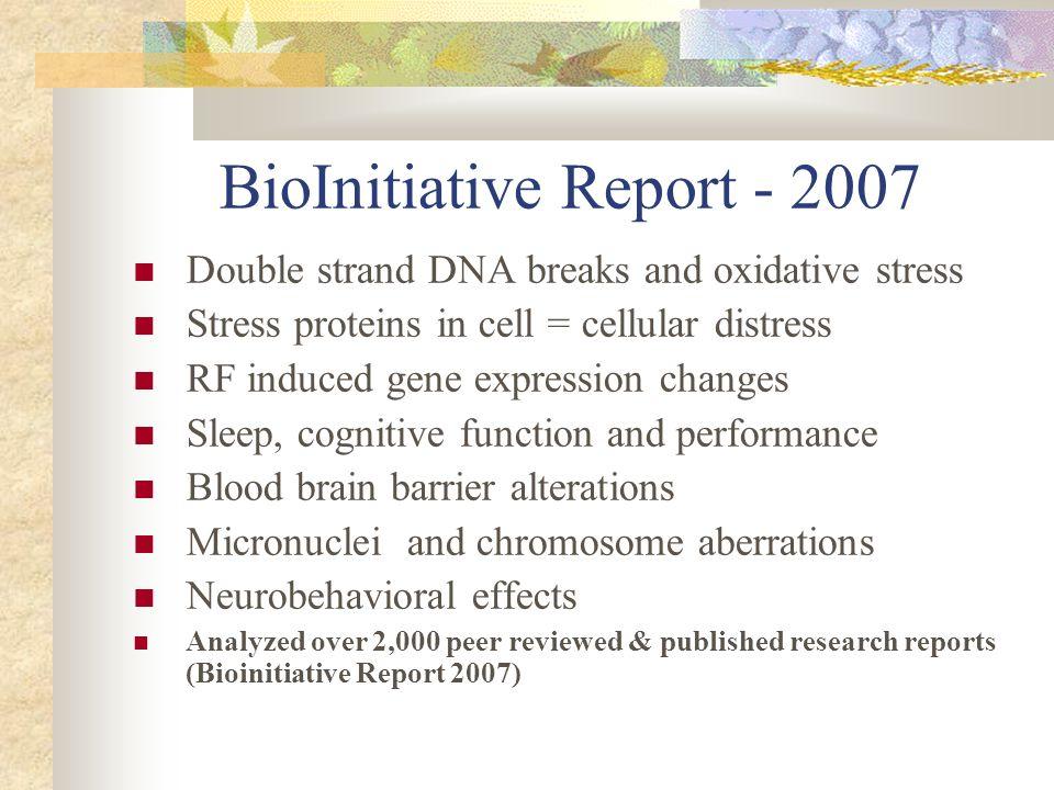 BioInitiative Report - 2007