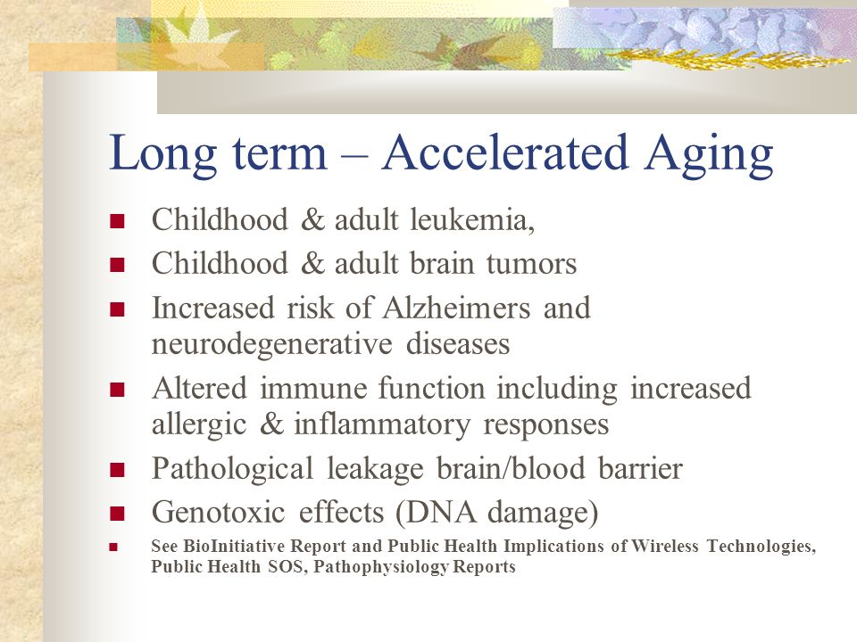 Long term – Accelerated Aging