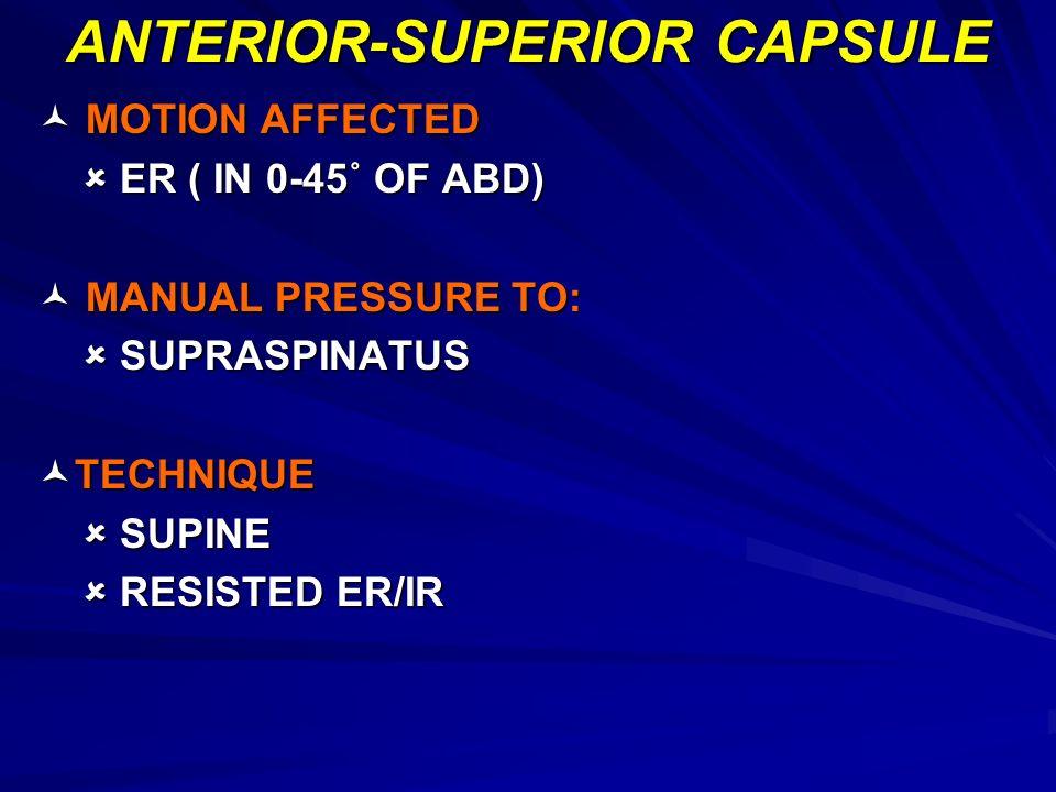 ANTERIOR-SUPERIOR CAPSULE