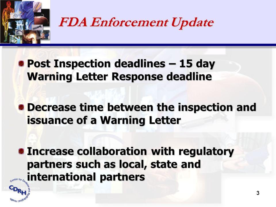 FDA Enforcement Update