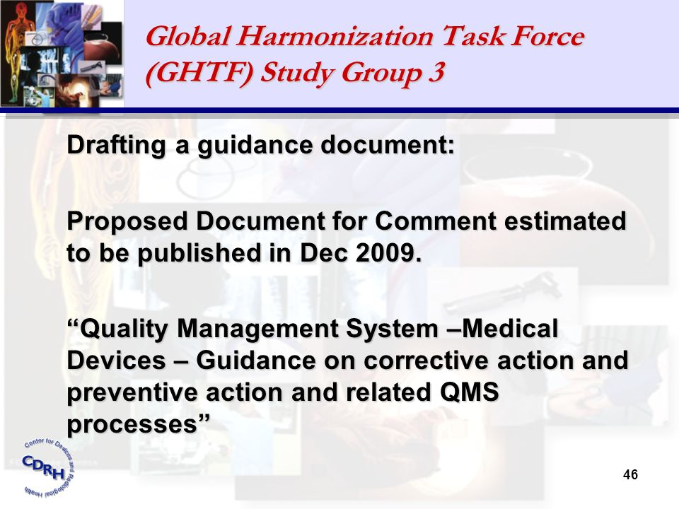 Global Harmonization Task Force (GHTF) Study Group 3