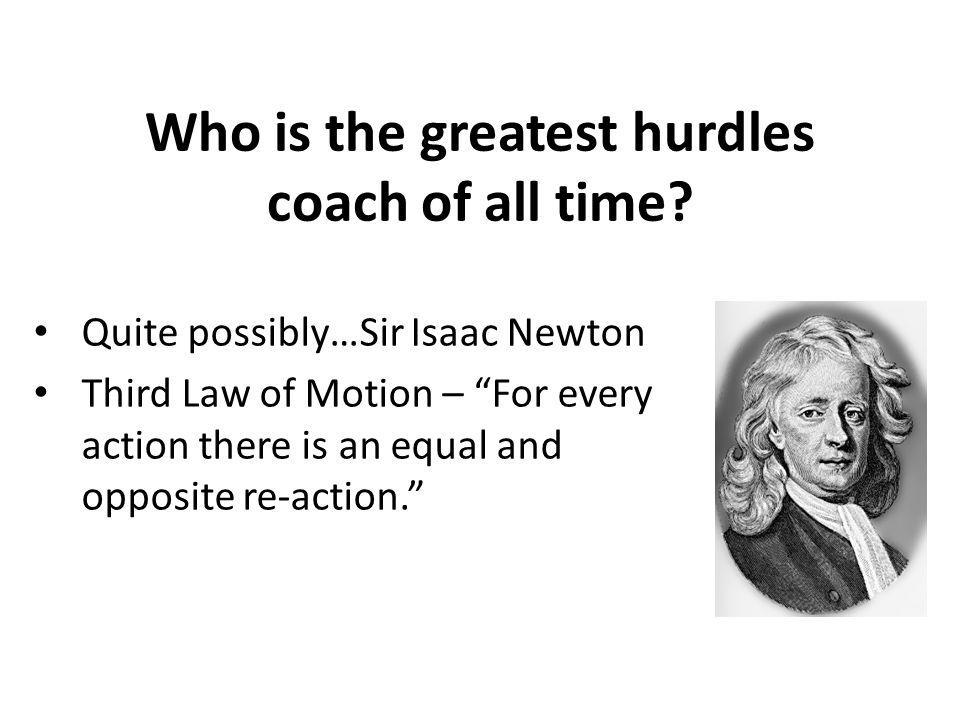 Who is the greatest hurdles coach of all time