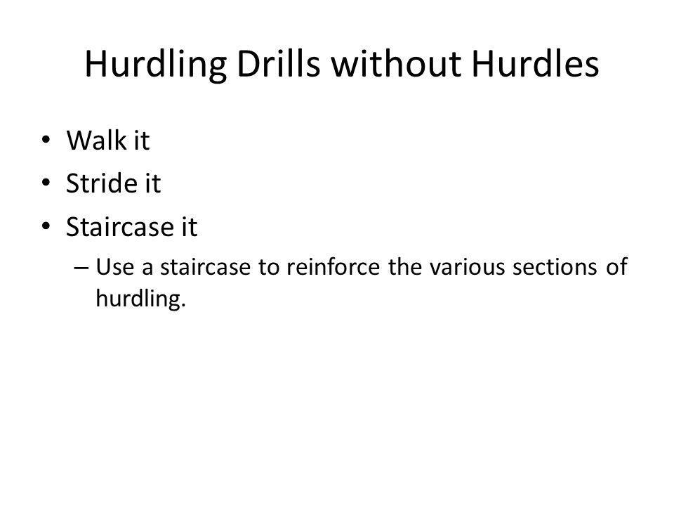 Hurdling Drills without Hurdles