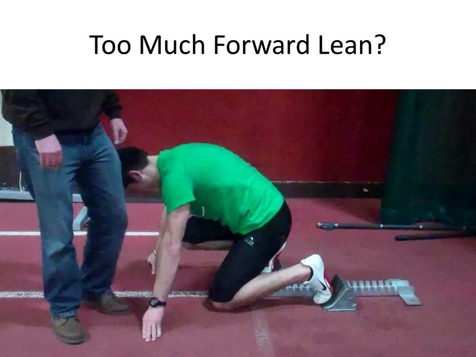 Too Much Forward Lean