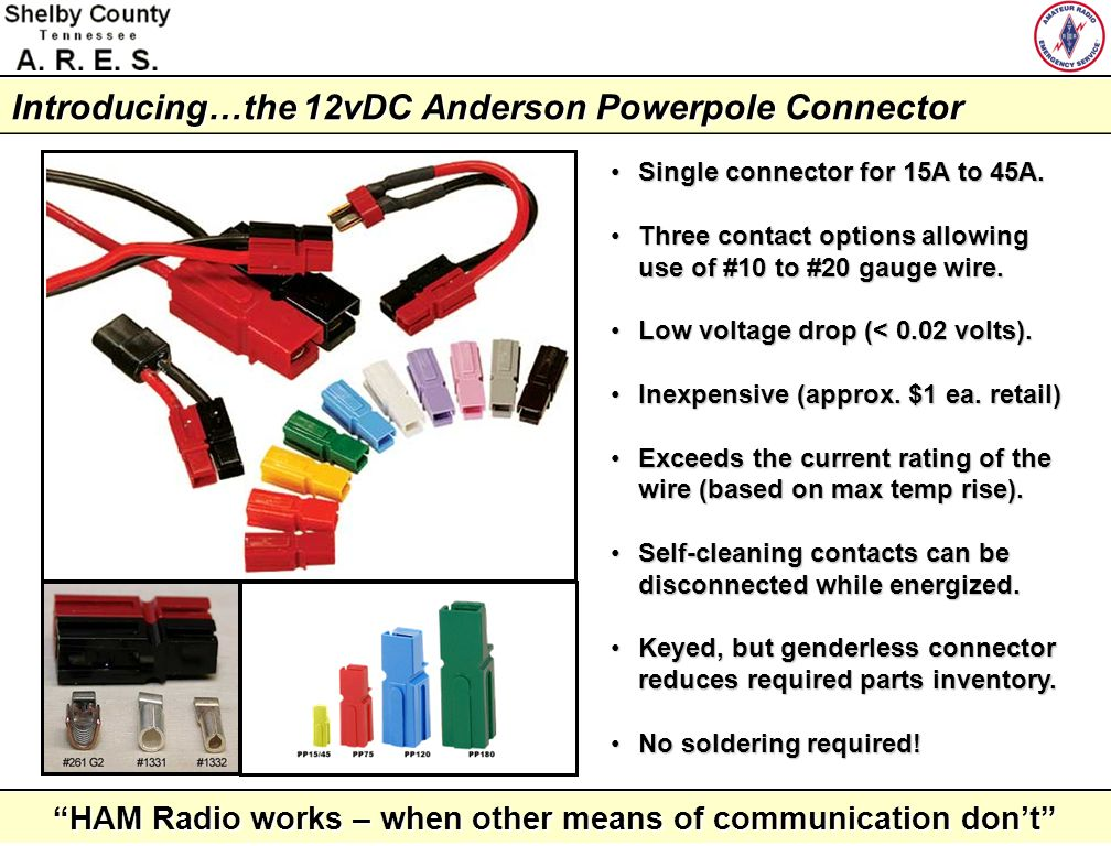 Introducing…the 12vDC Anderson Powerpole Connector