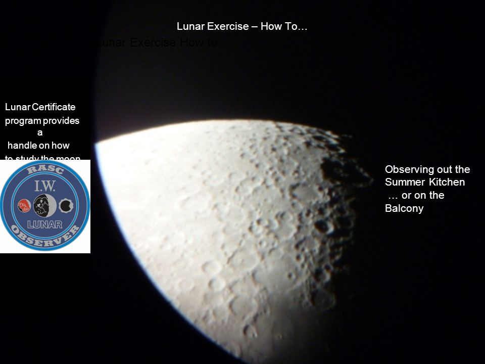 Lunar Exercise – How To…