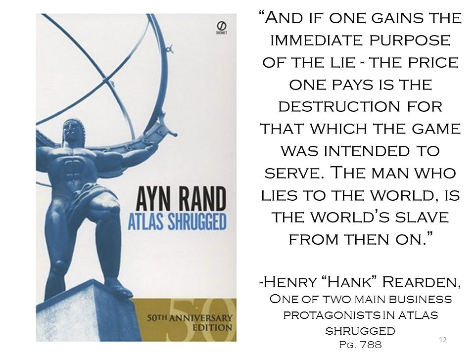 One of two main business protagonists in atlas shrugged