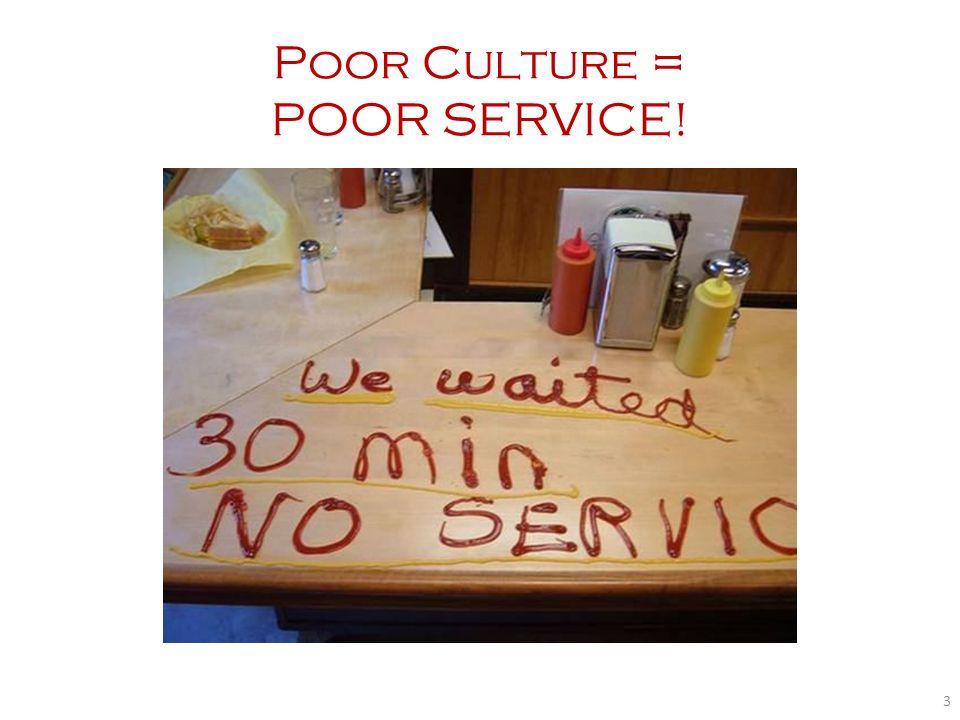 Poor Culture = POOR SERVICE!