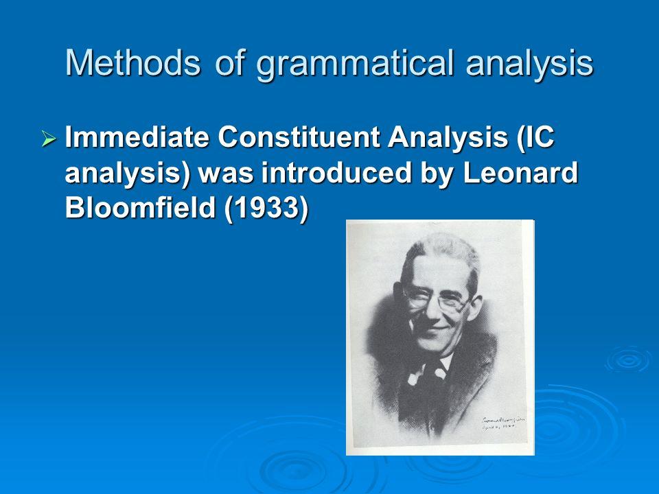 Methods of grammatical analysis