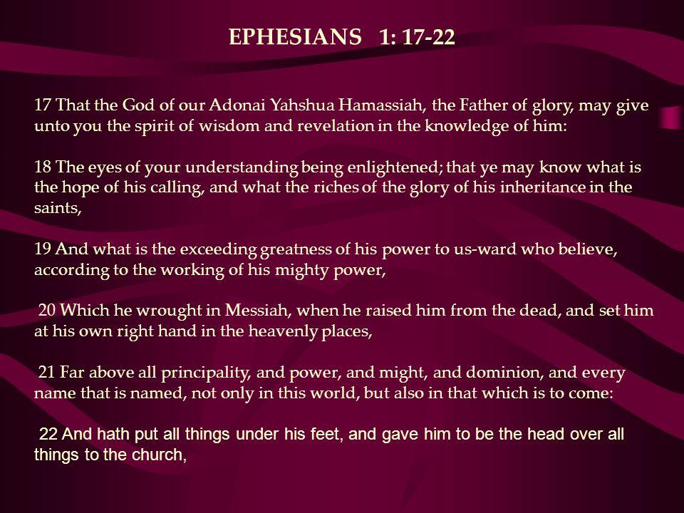 EPHESIANS 1: 17-22