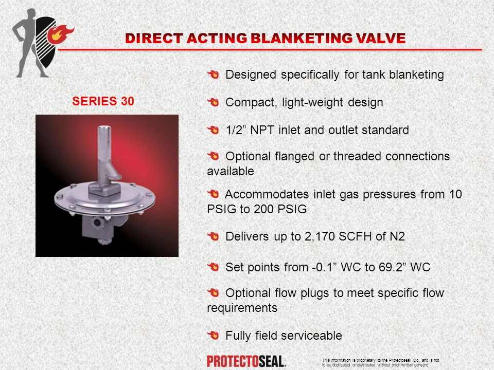 DIRECT ACTING BLANKETING VALVE