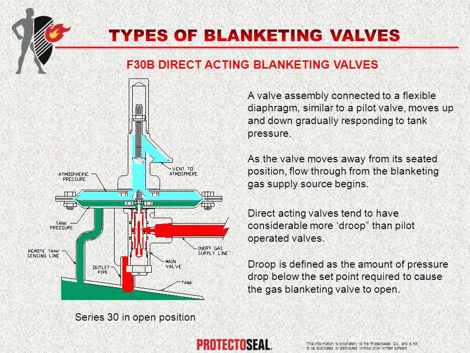 F30B DIRECT ACTING BLANKETING VALVES