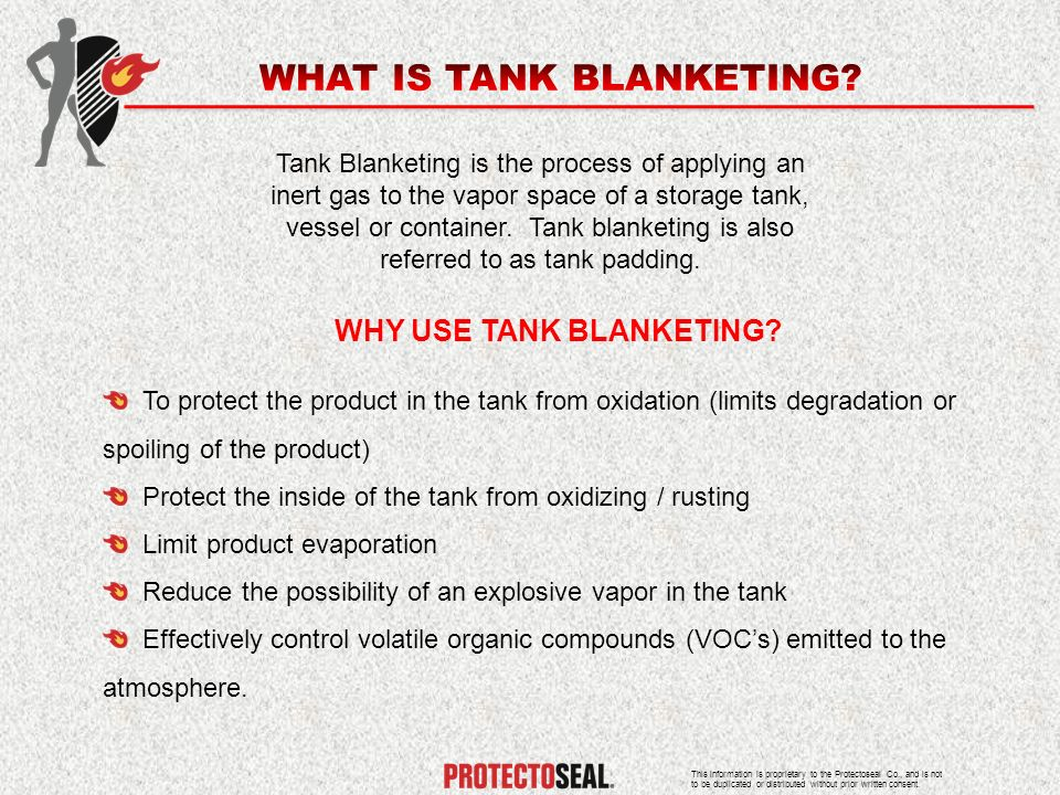WHAT IS TANK BLANKETING