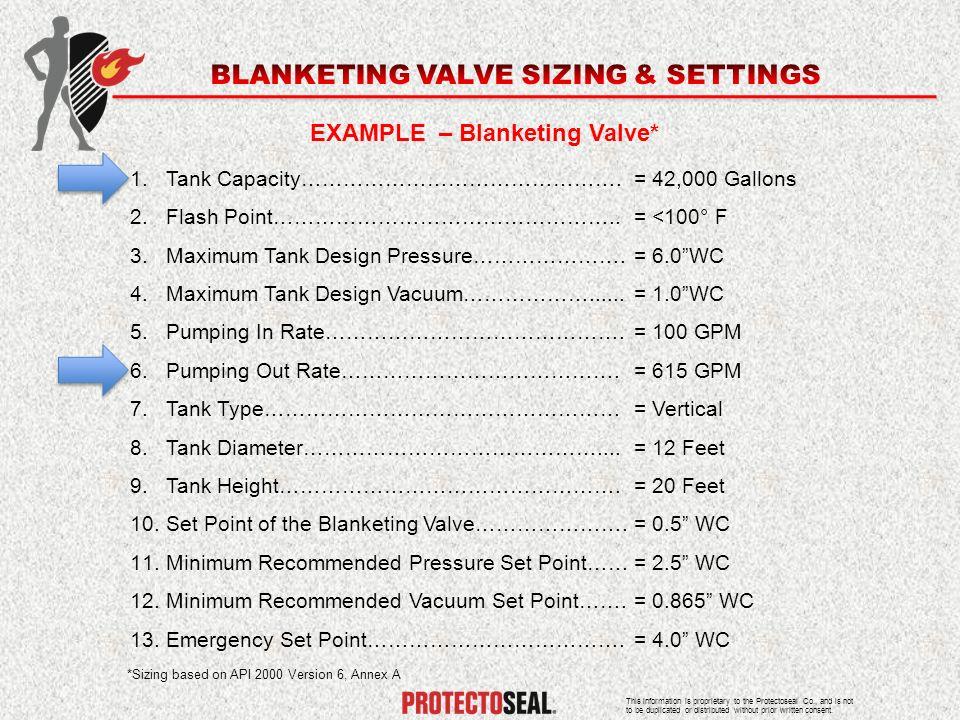 EXAMPLE – Blanketing Valve*
