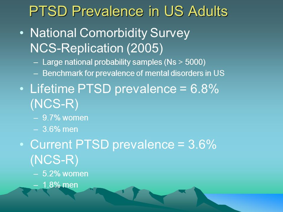 PTSD Prevalence in US Adults