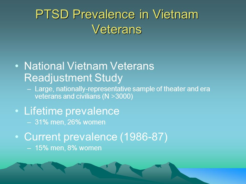PTSD Prevalence in Vietnam Veterans