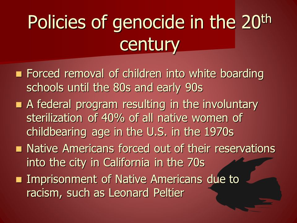Policies of genocide in the 20th century