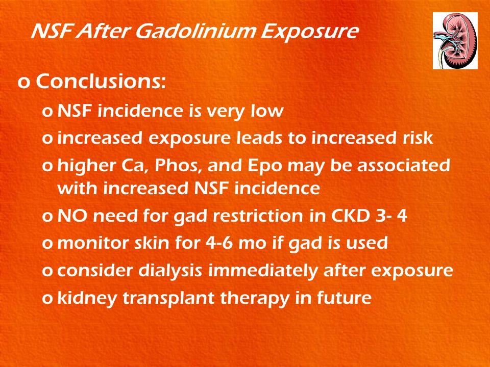 NSF After Gadolinium Exposure