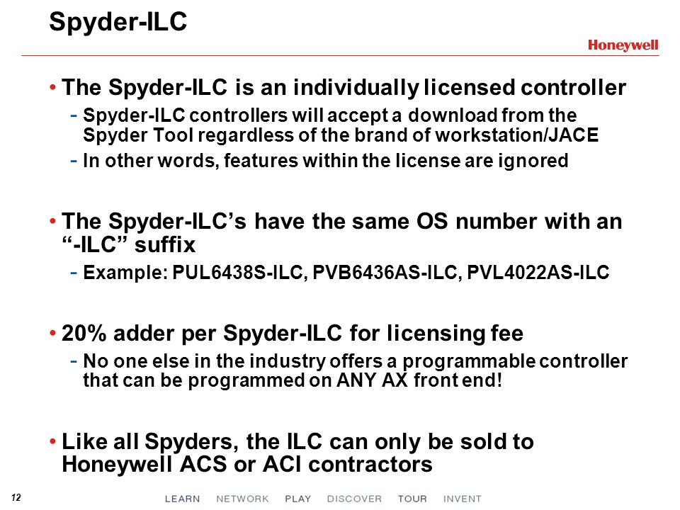 Spyder-ILC The Spyder-ILC is an individually licensed controller