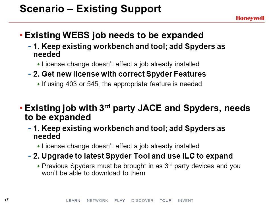 Scenario – Existing Support