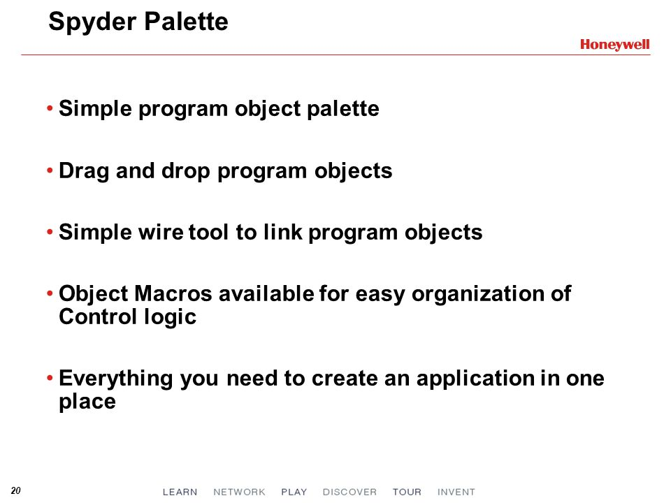 Spyder Palette Simple program object palette