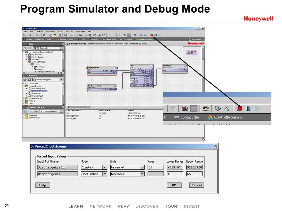 Program Simulator and Debug Mode