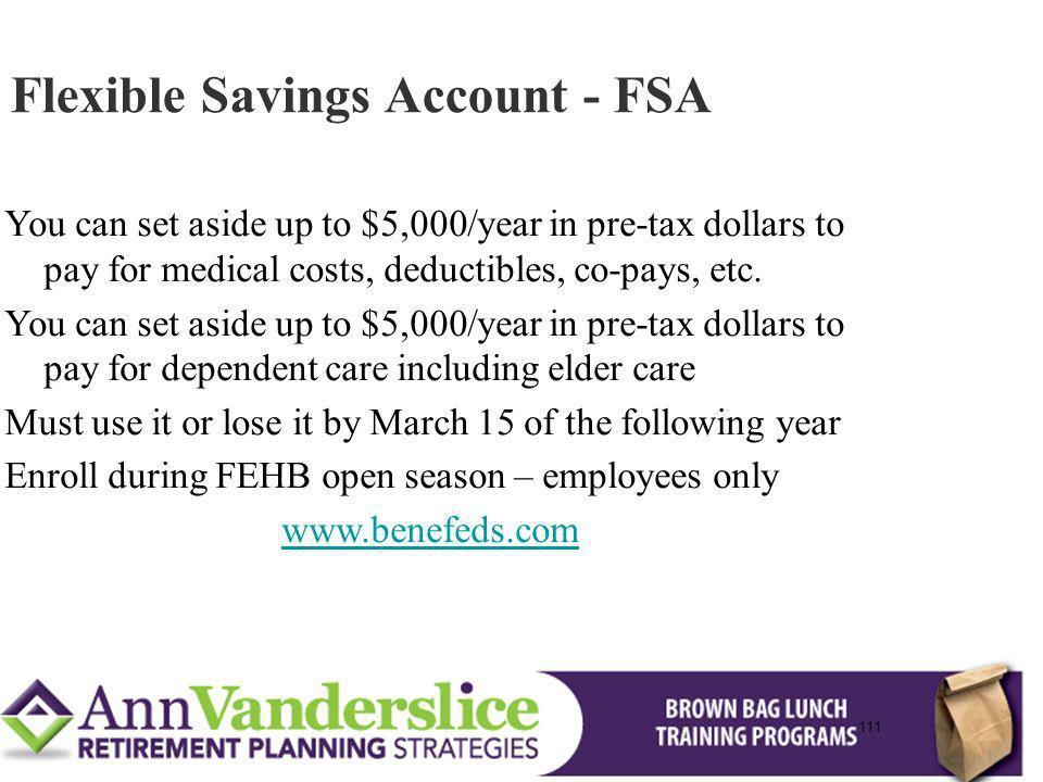 Flexible Savings Account - FSA