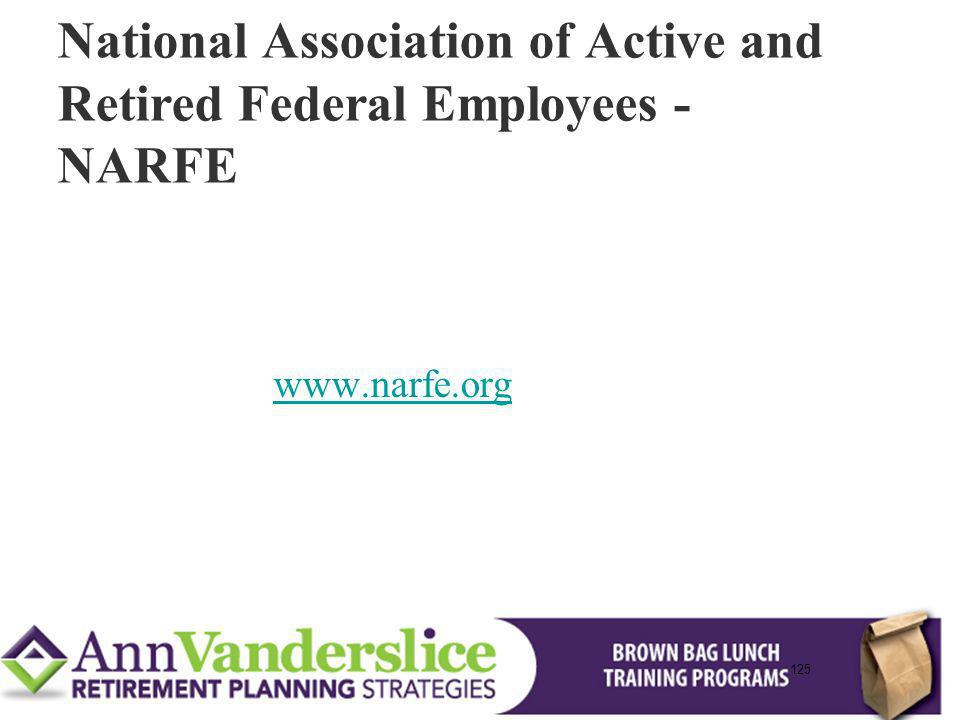 National Association of Active and Retired Federal Employees - NARFE