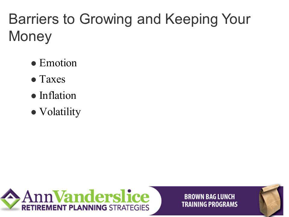 Barriers to Growing and Keeping Your Money