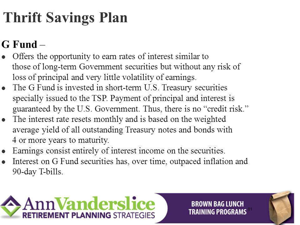 Thrift Savings Plan G Fund –