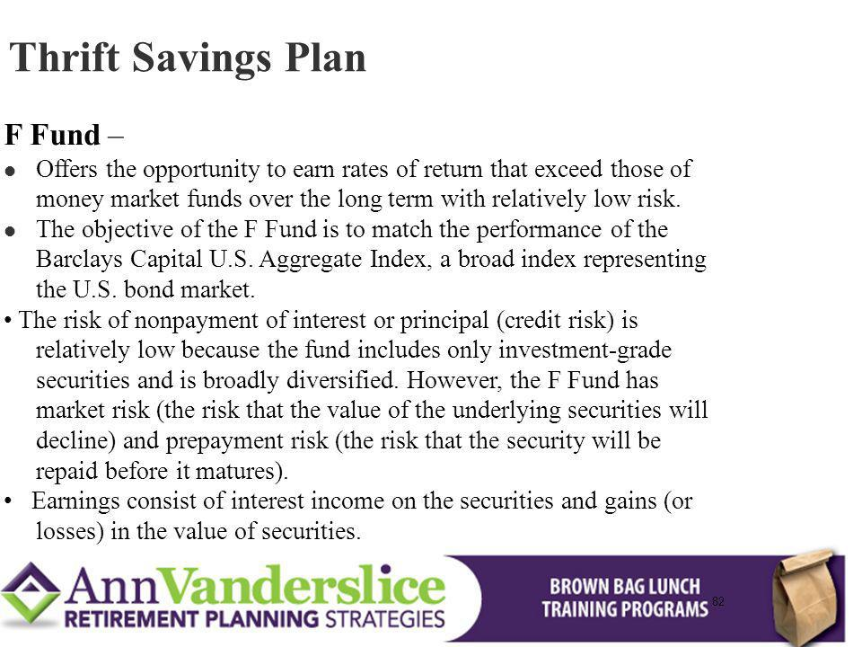 Thrift Savings Plan F Fund –