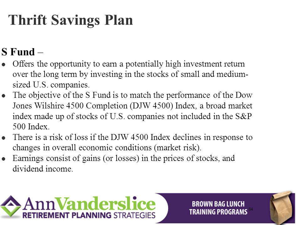 Thrift Savings Plan S Fund –