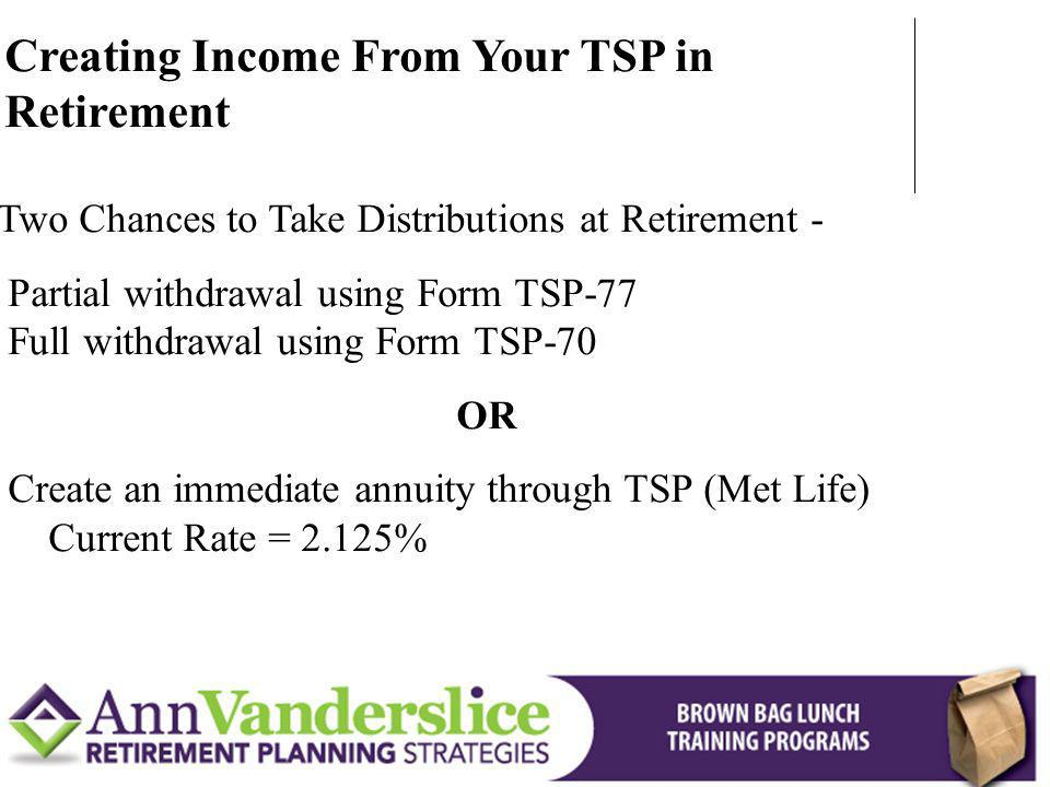 Creating Income From Your TSP in Retirement