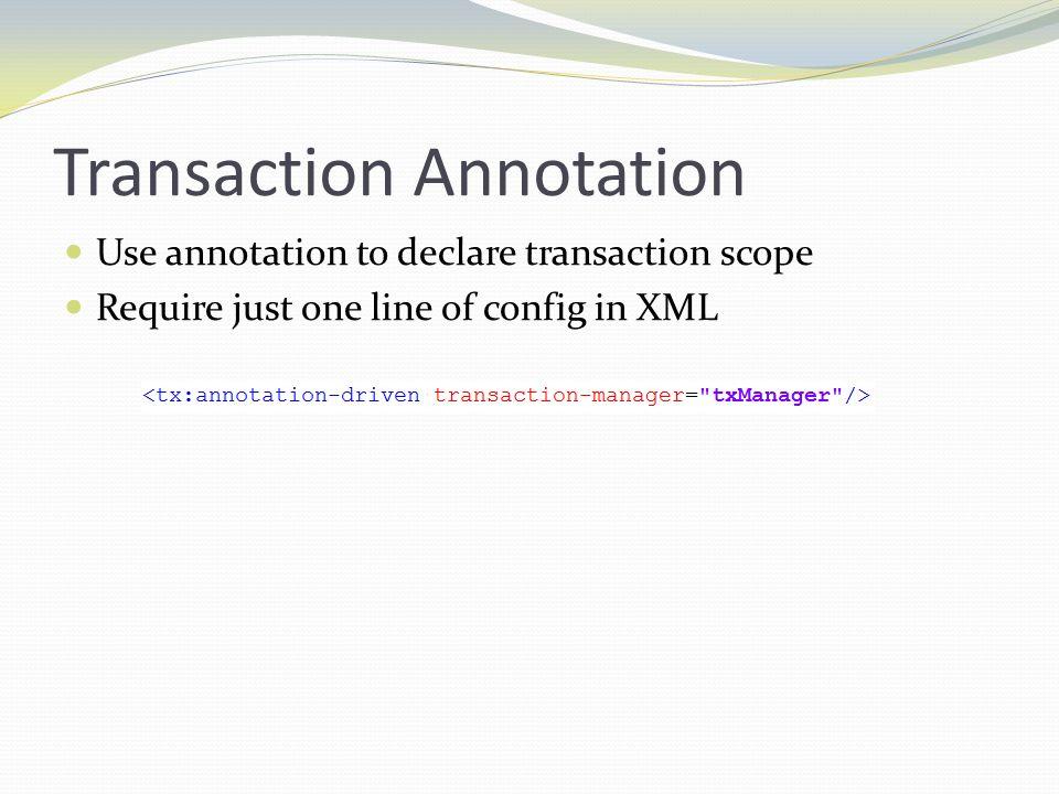 Transaction Annotation