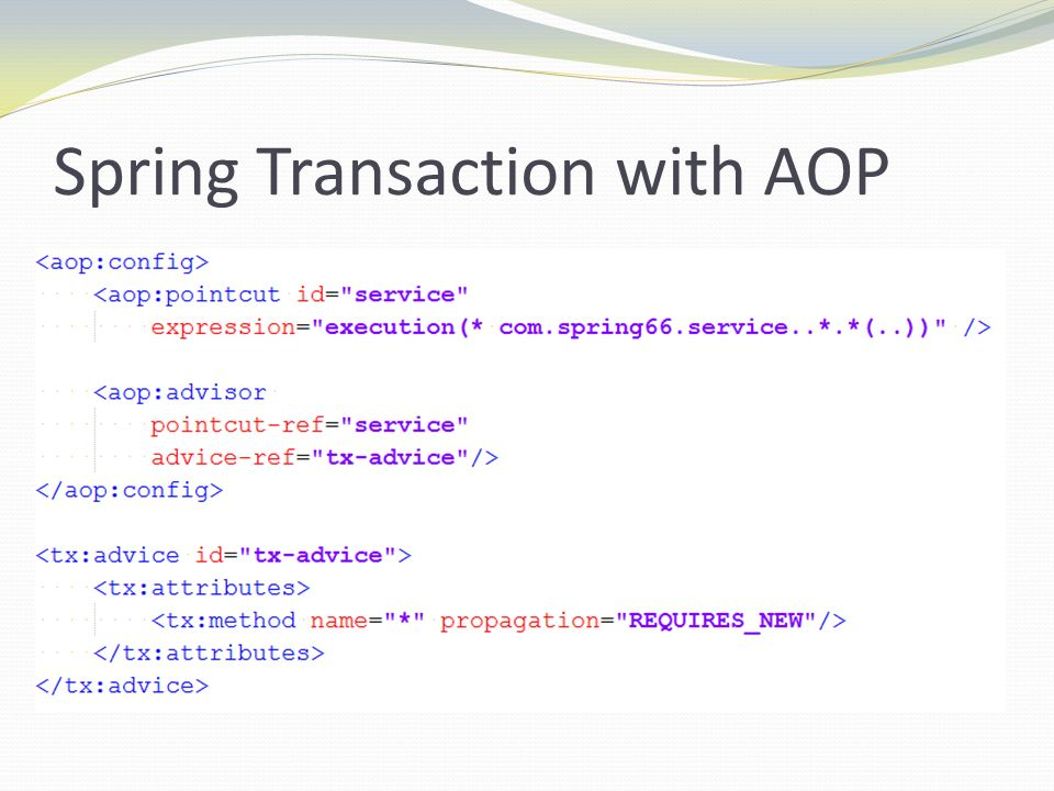 Spring Transaction with AOP